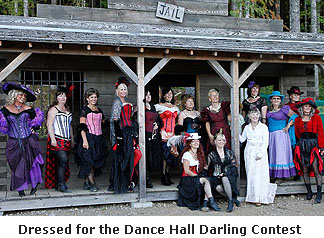 Dressed for the Dance Hall Darling Contest