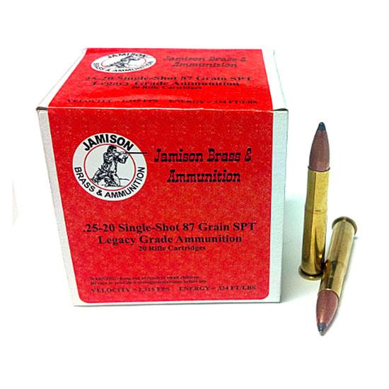 Jamison 25-20 Single Shot 87 gr. Soft Point